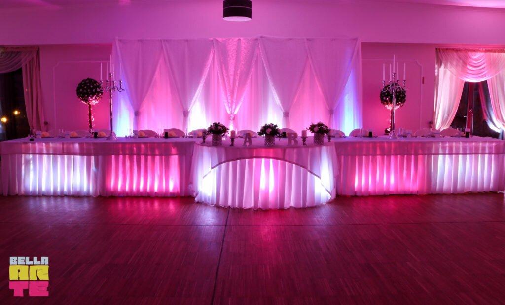 Dekoracja światłem wesele Inowrocław